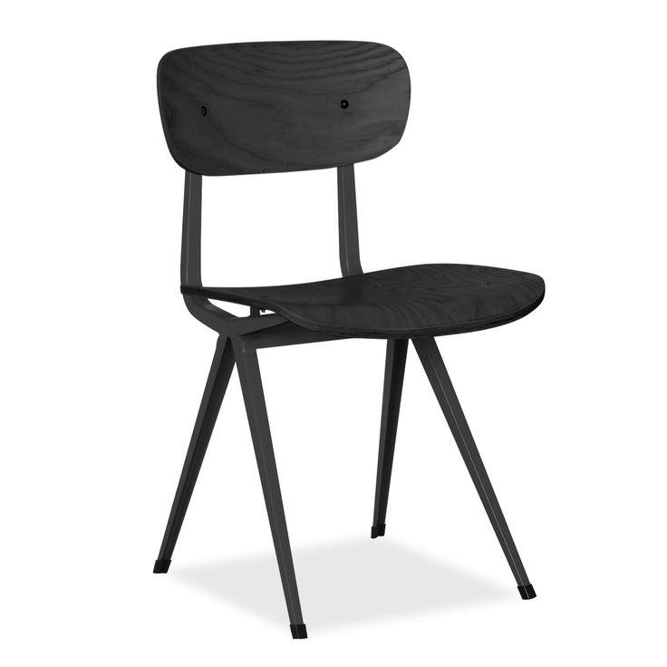 Silla COLLEGE -Metal Negro Mate- (Metalen stoelen)