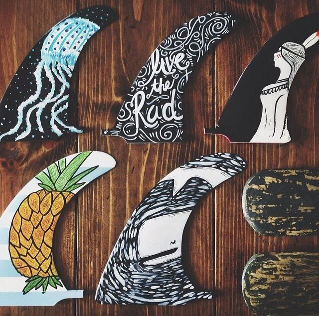This is awesome. I have always said that the fin was the perfect unused canvas on a surfboard. The Art of a Fin.