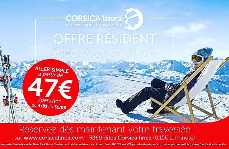 #PromoNeige Résidents Corses: Profitez de nos meilleurs tarifs pour vous rendre aux sports d'hiver! www.corsicalinea.com