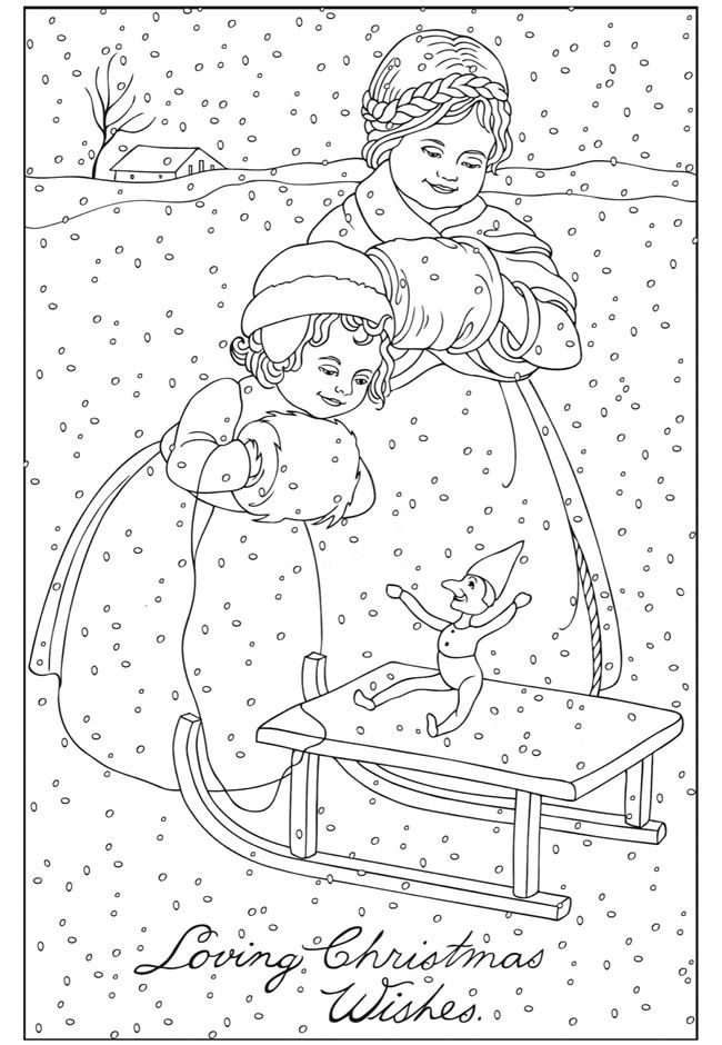 christmas greeting coloring pages - photo #39