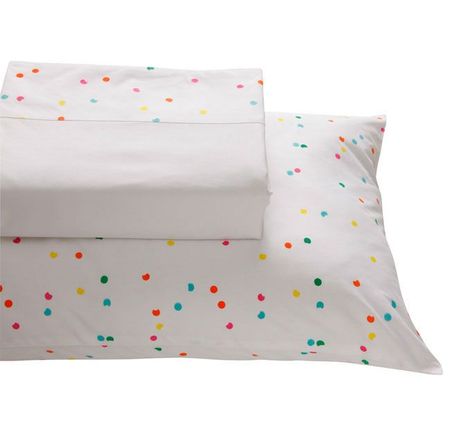 Lilly and Lolly Confetti Belle Sheet Set Range White