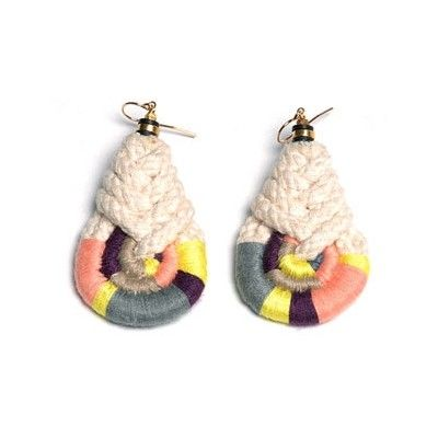 Jewels Wrapped rope earrings by Lizzie Fortunato