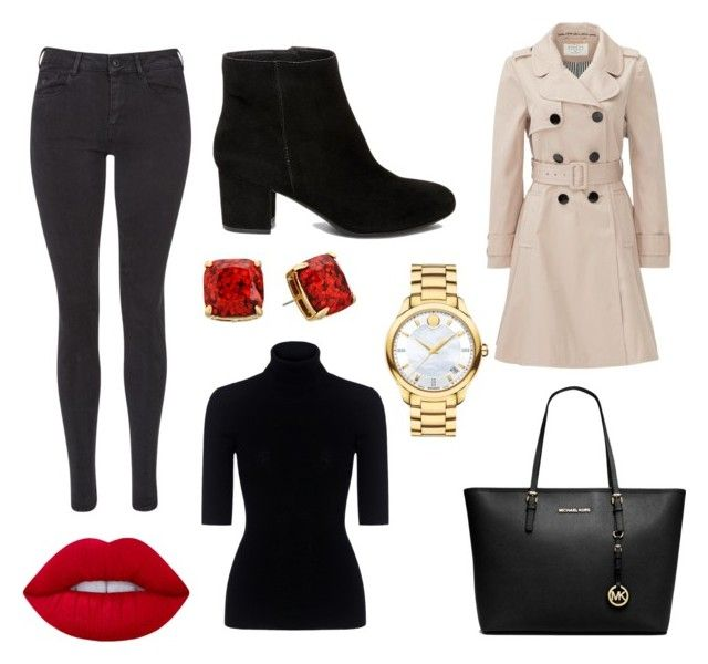 """""""Untitled #5"""" by terka-zelenkova on Polyvore featuring Maison Scotch, Kate Spade, Steve Madden, Theory, Michael Kors, Movado and Lime Crime"""