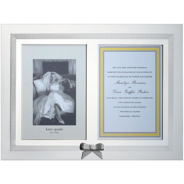 kate spade grace avenue double invitation frame 100 liked on on kate spade wedding invitation frame
