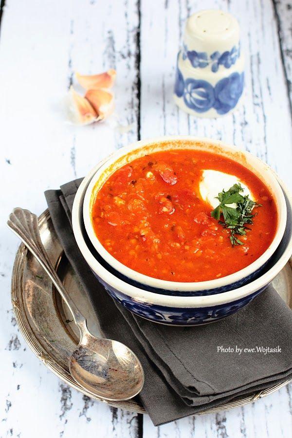 Zupa pomiodorowo-czosnkowa/Tomato and garlic soup