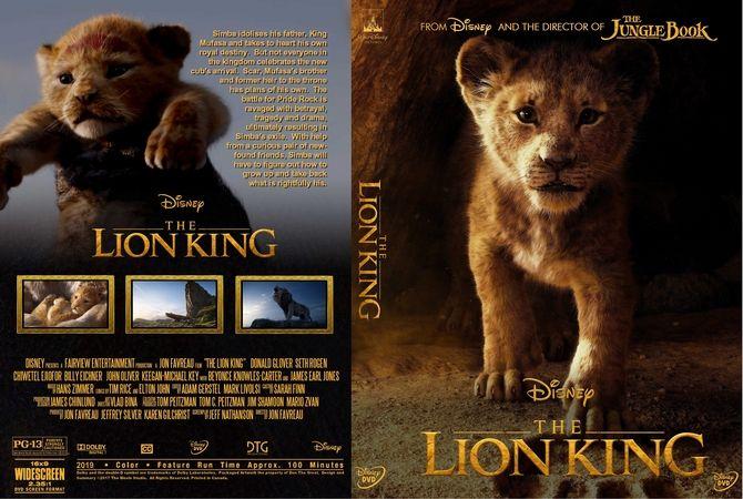 The Lion King 2019 Dvd Custom Cover Kingsman Lion King