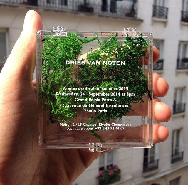 "harinef:  messgala:  Invites at Dries Van Noten S/S 15 recreated the runway in advance  okay i was thinking like ""she's stoned"" looking at the collection and now this"