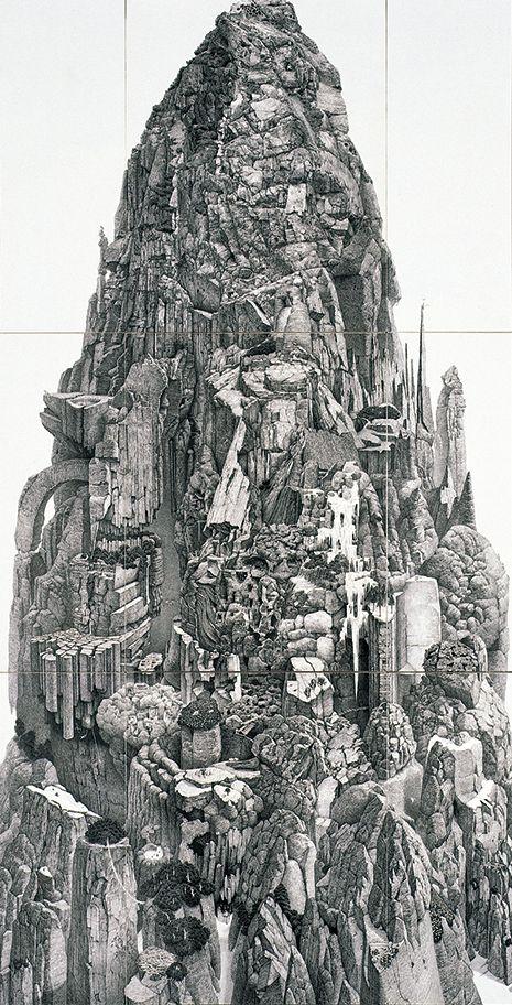 極めて細いペン先から壮大な世界を描き出すアーティスト、池田学(1973-)。1日に握りこぶしほどの面積しか描くことができないという画面は、緻密な描写や壮大な構成によって裏打ちされた、現実を凌賀(りょうが)するかのような異世界の光景を現出させ、米国をはじめ世界的に大きな評価を得ています。本展は、池田の画業の全貌を紹介する、初めての大規模な個展です。中でも米国ウィスコンシン州のチェゼン美術館の滞在制作プログラムにより3年にわたって制作された新作《誕生》は必見です。