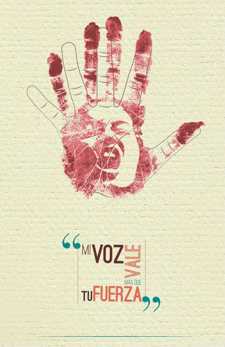 Afiche: Problemática Social Abuso a la mujer.
