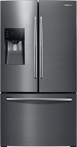 Samsung - 24.6 Cu. Ft. French Door Refrigerator - Black Stainless Steel