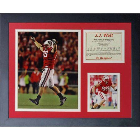 Legends Never Die J.J. Watt Wisconsin Framed Photo Collage, 11 inch x 14 inch
