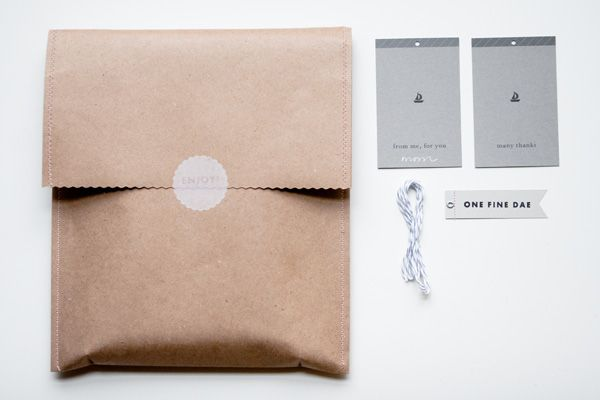simple packaging elements make for one great brand identity