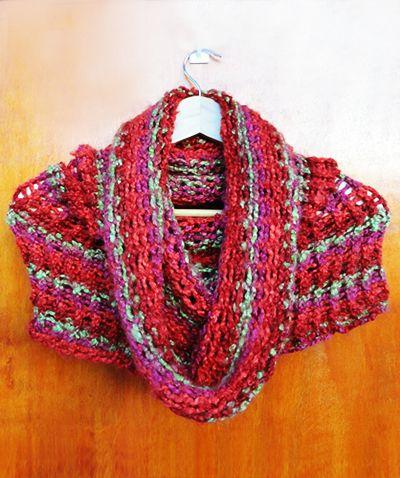 Bufanda Mágica, tubular, bufanda de cuello, multiusos en telar circular / magic scarf by Suhyza