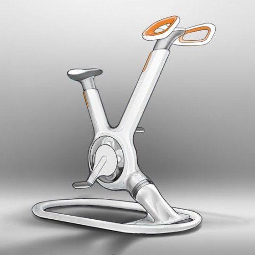initial concept sketch: futuristic, inviting, friendly