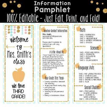 Information-Pamphlet-for-Parents-Open-House-2053816 Teaching Resources - TeachersPayTeachers.com