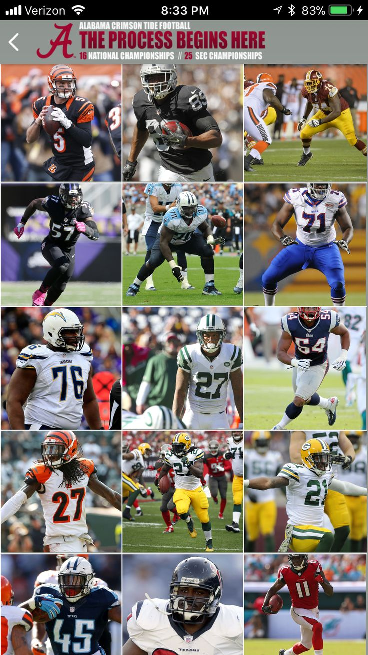 Alabama players in the NFL! The Process starts here! #Alabama #RollTide #Bama #BuiltByBama #RTR #CrimsonTide #RammerJammer