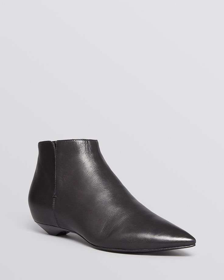 LOVE THESE BOOTS! Sigerson Morrison Pointed Toe Flat Booties - Gabrielle | Bloomingdale's