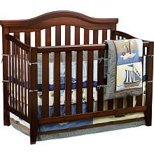 """Solutions by Kids R Us 4-in-1 Non Drop Side Convertible Crib - Cherry - Solutions by Kids 'R' Us - Babies """"R"""" Us"""