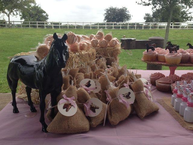 "Photo 8 of 11: Shabby Chic pony party / Birthday ""Rylee Ann's 2nd birthday ""   Catch My Party"