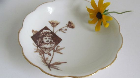 Charming Victorian Girl Portrait Plate by ReVintageLannie on Etsy