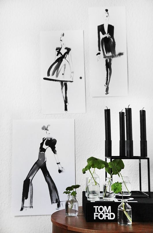 wall illustrations + table styling via Trendenser