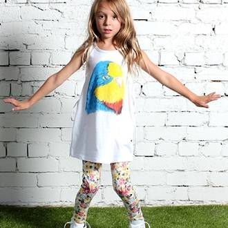 Minti Painted Parrot Lacey Dress - White Preorders open at www.ragamuffins.co.nz