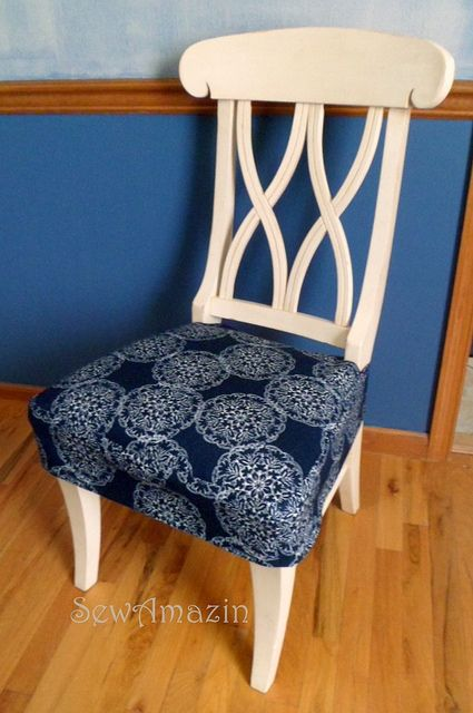 Interesting Kitchen Chair Seat Covers Cover Tutorial In Design Decorating