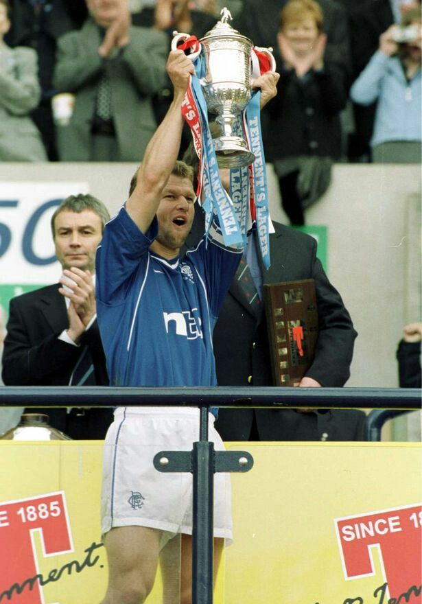 Arthur Numan with the 2000 Scottish cup.