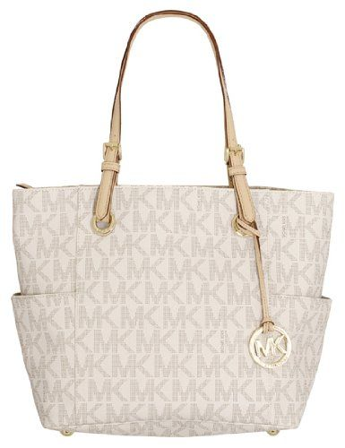 Michael Kors East West Signature Pvc Tote Vanilla Brandname Handbags Pinterest Classic Style And Bag