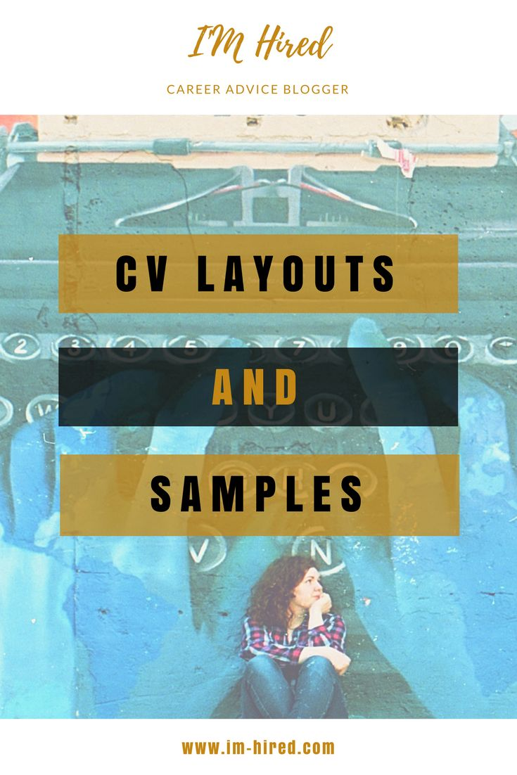 CV Writing Samples and Layout