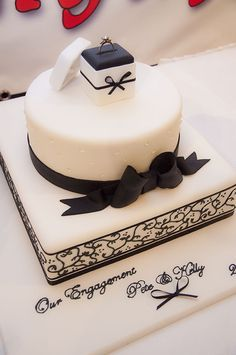 Our Engagement Cake by Michelle Wells of Helensburgh - perfect for the engagement part