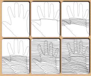 Op Art – 5.del: hånd under streger