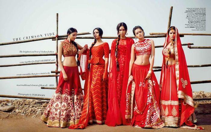 Harpers Bazaar India's Crimson Bride