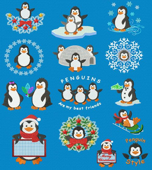 free penguin machine embroidery designs machine. Black Bedroom Furniture Sets. Home Design Ideas