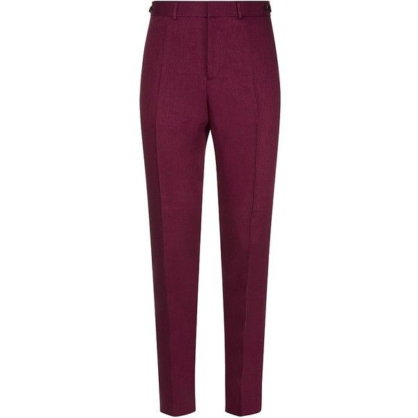 Burberry Prorsum Tapered Linen Trousers (173.845 HUF) ❤ liked on Polyvore featuring men's fashion, men's clothing, men's pants, men's casual pants, pants, mens cropped pants, mens tapered pants, mens linen pants, burberry mens pants and mens casual linen pants