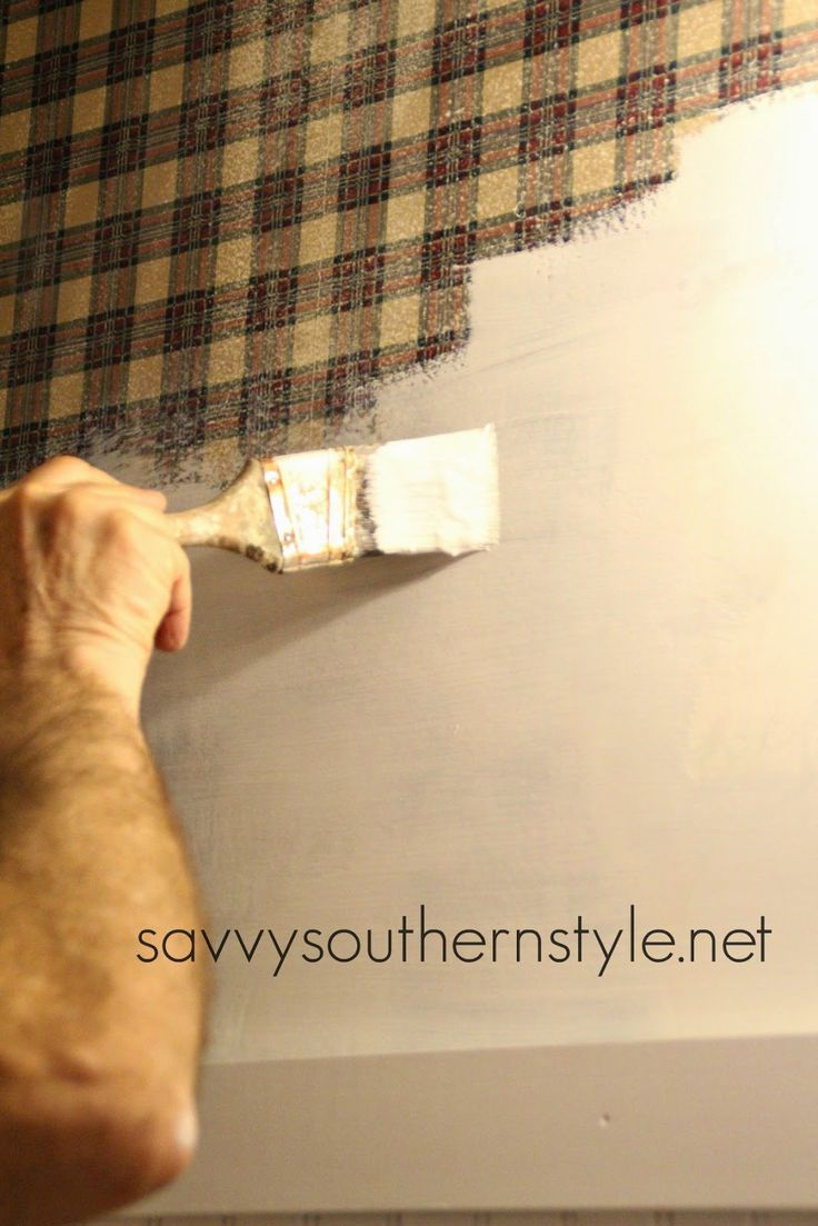 Savvy Southern Style: How To Paint Over Wallpaper