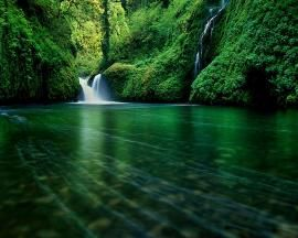 Mountain River Waterfall Wallpaper
