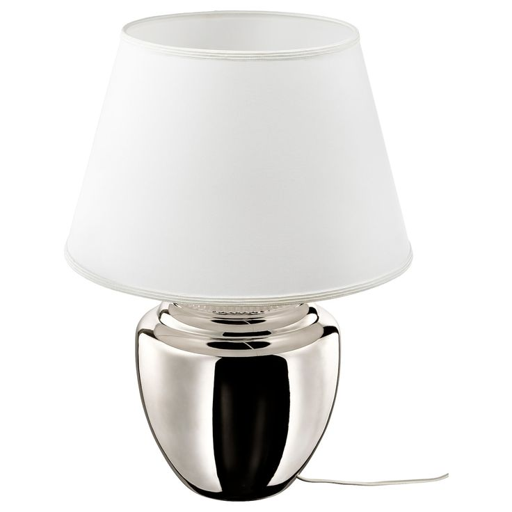 KLABB Table lamp with LED bulb light brown, bronze color