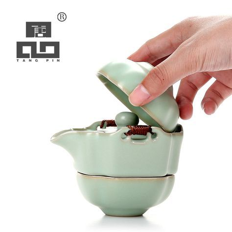 Cheap tea set, Buy Quality travel tea set directly from China ceramic teapot Suppliers: TANGPIN ceramic teapot gaiwan tea cups portable travel tea set with travel bag