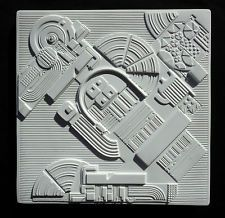 Rosenthal Annual 1978 Abstract Porcelain Relief by Designer Eduardo Paolozzi