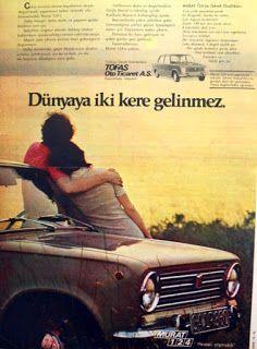Murat 124 1972 nostaljik eski reklamlar