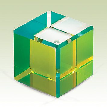 Kate Spade New York Jules Point Colorblock Cube Paperweight by Lenox.