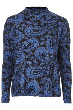 Paisley Long Sleeve Funnel Neck Top