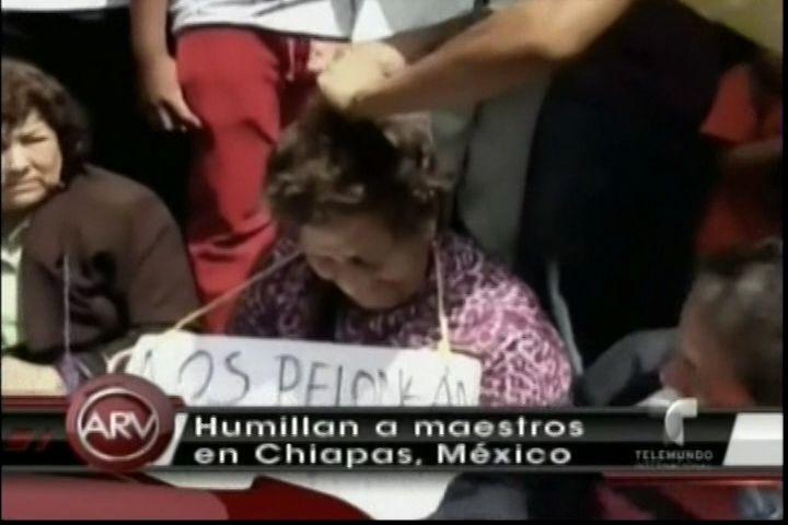 Humillan A Maestros Cortándoles El Pelo En Chiapas, México