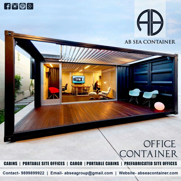 AB Sea Container Pvt.Ltd. has exceptionally constant specialists who created of a quality assortment of Containerized Office with the real details of the clients. These workplaces made in consistence with global quality measures utilizing high top-review crude material and stringently tried on various parameters. Our customers have known us from fine complete, strength, reduced plan and simple upkeep. These workplaces can undoubtedly withstand diverse climatic conditions like substantial…