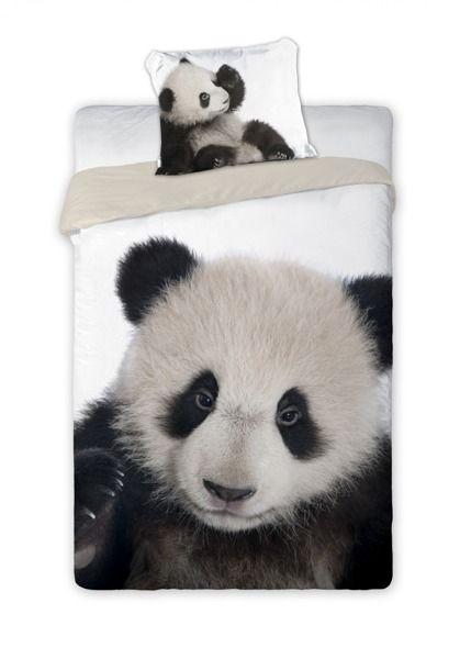Súprava detských posteľných obliečok panda 160x200