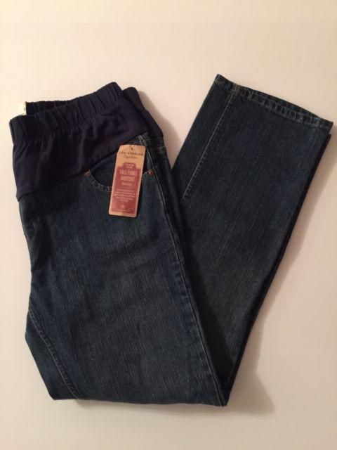 Misses Maternity Levi Strauss Signature Size 16 Bootcut Denim Jeans (Z8) | eBay