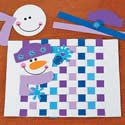 Snowman Weaving Placemat Craft Kit. Winter crafts ideas for children.