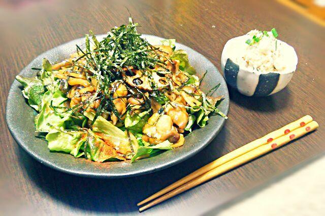 ボリューム満点(´∀`*)ふがふが - 11件のもぐもぐ - 鶏とれんこんの照り焼き丼&里芋サラダ by saayam
