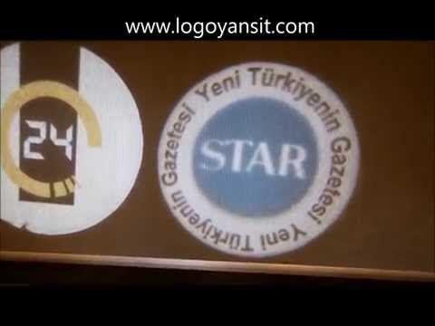 24 tv,star gazetesi logoları dönen logo ve sabit logo yansit uygulaması - YouTube